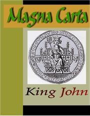 Cover of: THE MAGNA CARTA (The Great Charter)