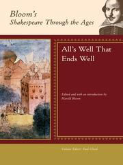 Cover of: All's Well That Ends Well