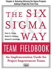 Cover of: Selecting Winning Six Sigma Projects