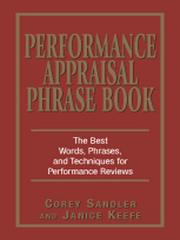 Cover of: Performance Appraisals Phrase Book