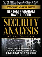 Cover of: Additional Aspects of Security Analysis. Discrepencies Between Price and Value