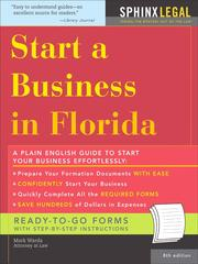 Cover of: Start a Business in Florida, 8E