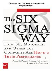 Cover of: The Six Sigma Way : How GE, Motorola, and Other Top Companies are Honing Their Performance: The Key to Successful Improvement