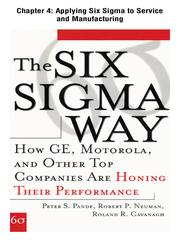 Cover of: Applying Six Sigma to Service and Manufacturing