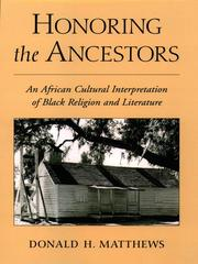 Cover of: Honoring the Ancestors