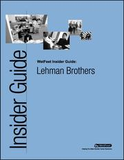 Cover of: Lehman Brothers: The WetFeet Insider Guide