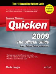 Cover of: Quicken® 2009