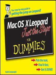 Cover of: Mac OS X Leopard Just the Steps For Dummies
