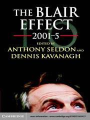 Cover of: The Blair Effect 2001-5