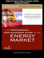 Cover of: Energy Trading, Transaction and Risk Management Software