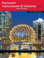Cover of: Frommer's Vancouver and Victoria 2010