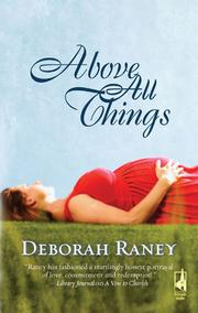 Cover of: Above All Things
