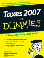 Cover of: Taxes 2007 For Dummies
