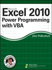 Cover of: Excel® 2010 Power Programming with VBA