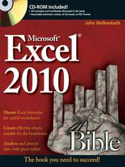 Cover of: Excel® 2010 Bible