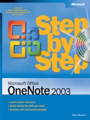 Cover of: Microsoft® Office OneNote® 2003 Step by Step