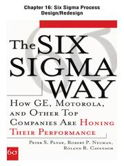 Cover of: Six Sigma Process Design/Redesign
