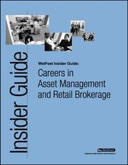 Cover of: Careers in Asset Management and Retail Brokerage
