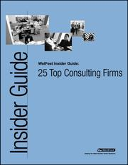 Cover of: 25 Top Consulting Firms