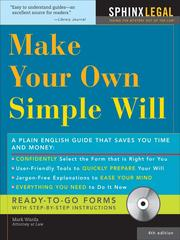 Cover of: Make Your Own Simple Will