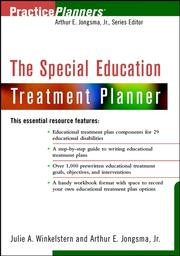 Cover of: The Special Education Treatment Planner