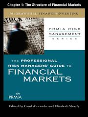 Cover of: The Structure of Financial Markets