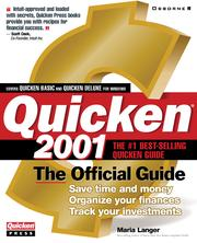 Cover of: Quicken® 2001