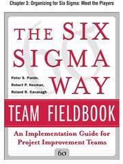 Cover of: Organizing for Six Sigma