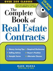 Cover of: The Complete Book of Real Estate Contracts