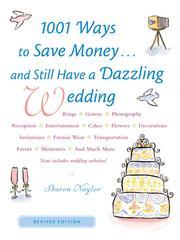 Cover of: 1001 Ways to Save Money. . . and Still Have a Dazzling Wedding