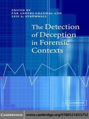 Cover of: The Detection of Deception in Forensic Contexts