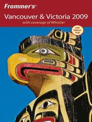 Cover of: Frommer's Vancouver and Victoria 2009