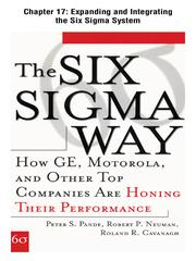 Cover of: Expanding and Integrating the Six Sigma System