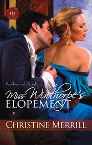 Cover of: Miss Winthorpe's Elopement