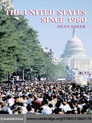 Cover of: The United States Since 1980