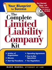 Cover of: The Complete Limited Liability Company Kit