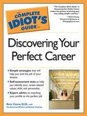 Cover of: The Complete Idiot's Guide to Discovering Your Perfect Career