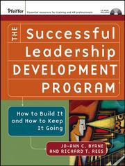 Cover of: The Successful Leadership Development Program