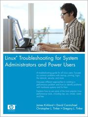 Cover of: Linux© Troubleshooting for System Administrators and Power Users
