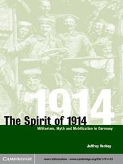 Cover of: The Spirit of 1914
