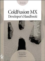 Cover of: ColdFusionMX Developer's Handbook