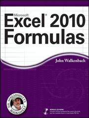 Cover of: Excel 2010 Formulas