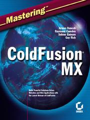 Cover of: Mastering ColdFusion MX