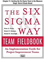 Cover of: Guiding the Six Sigma Team in the Measure Stage