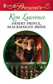 Cover of: Desert Prince, Blackmailed Bride