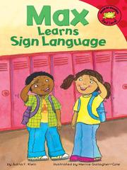 Cover of: Max Learns Sign Language
