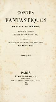 Cover of: Oeuvres de E.-T.-A. Hoffmann