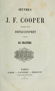 Cover of: Oeuvres de J.F. Cooper