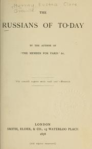 Cover of: The Russians of to-day