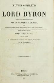 Cover of: OEuvres complètes de Lord Byron
